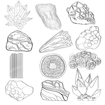 Rocks / Crystals / Minerals / Stones Clip Art - Geology - Earth Science