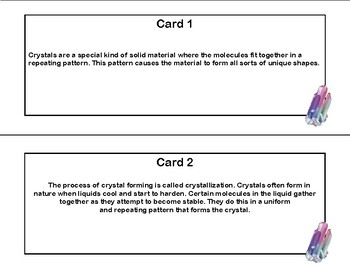 Crystals- Scavenger Hunt- Read and Write The Room- Grades 4-7