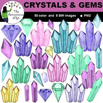 Crystals and Gems Clip Art