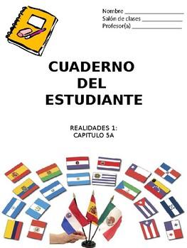 Cuaderno Del Estudiante - Realidades 1, Chapter 5B