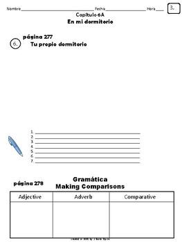Cuaderno Del Estudiante - Realidades 1, Chapter 6A