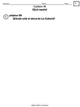 Cuaderno Del Estudiante - Realidades 1, Chapter 7B