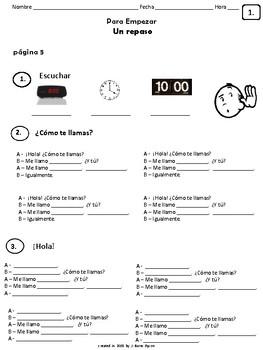 Cuaderno Del Estudiante - Realidades 1, Para Empezar