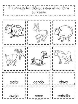 Cuaderno Interactivo Animales de la Granja/ Interactive Notebook Farm Animals