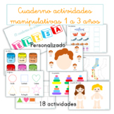 Cuaderno de actividades manipulativas de 1 a 3 años