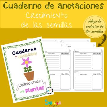 Cuaderno de anotaciones de crecimiento de mis plantas