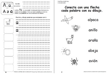 Cuaderno de lectoescritura - Foundational Spanish Interactive Reading & Writing
