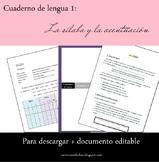 Cuaderno de lengua: la sílaba y la acentuación
