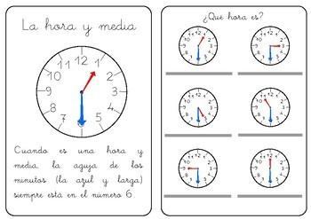 Cuaderno para aprender las horas