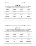 Cuadrícula Comunicativa: Spanish Descriptive Adjectives