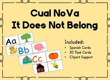 Cual No Va -It Does Not Belong -Letras y Sonidos Centros