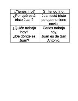 ¿Cuál es la pregunta? A Game to Teach Question Formation in Spanish