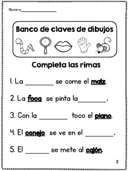 Find the Rhyme- Cuál es la rima?
