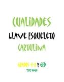 "Cualidades Llave de Esqueleto Cartulina (11""x25"")"
