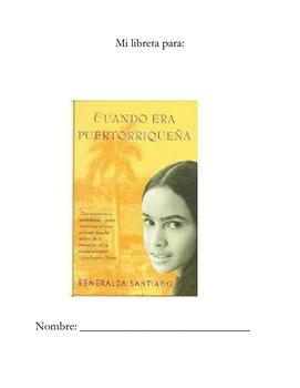 Cuando Era Puertorriqueña Student Notebook!! In SPANISH!