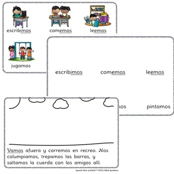 Cuando estamos en la escuela: A Spanish verb workbook/reader (nosotros)