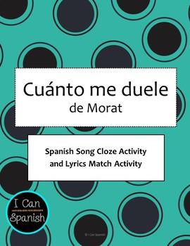 Cuánto me duele de Morat-Spanish Song Activities