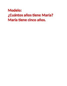 Cuantos años (Age in Spanish) Partner Speaking activity