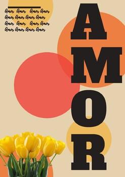 """Cuatro posters con la palabra """"Amor"""""""