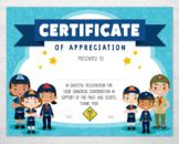 Cub Scout Certificate of Appreciation Certificate - Boys & Girls