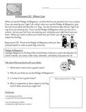 Cub Scout - Tiger Den - Achievement 2D: Practice Pledge of Allegiance Worksheet
