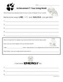 Cub Scout - Wolf Den - Achievement 7a 7b 7f Worksheet