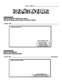 Cub Scout - Wolf Den - Achievement 8c and 8d Worksheet