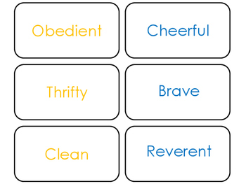 Cub Scout themed Flash Cards.