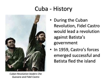 Cuba Geography and History Powerpoint