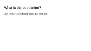 Cuba Cultural Slideshow