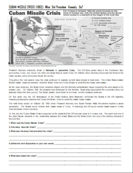 Cuba Missile Crisis and Bay of Pigs Invasion Lesson