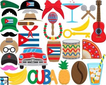 Cuba Props - Clip Art Digital Files Personal Commercial Use cod255