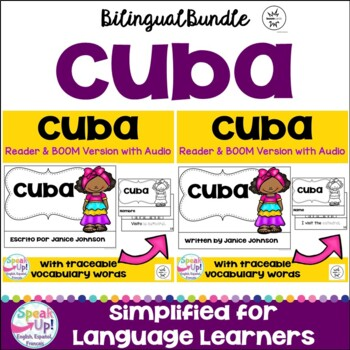 Cuba Reader & vocab pages in English & Spanish {Bilingual version}