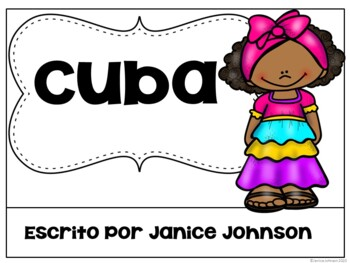 Cuba Reader & vocab pages in English & Spanish {Bilingual bundle}