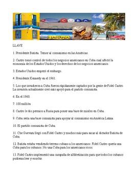 Cuba Web quest in Spanish