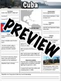 Cuba Worksheet