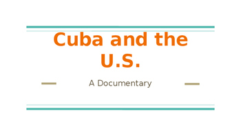 Cuba and the U.S.