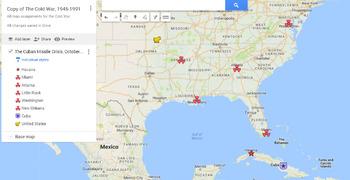 Cuban Missile Crisis Google MyMaps