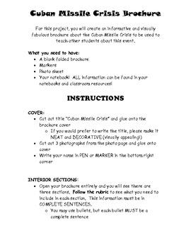 Cuban Missile Crisis Informational Brochure!!!
