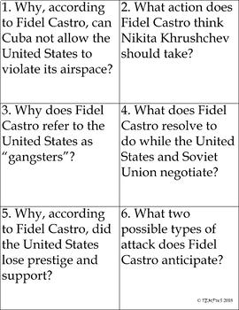 Cuban Missile Crisis - Kennedy, Khrushchev, Castro - Lesson Plan Bundle