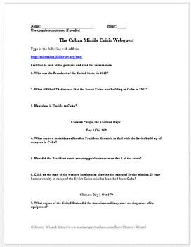 Cuban Missile Crisis Lesson Plan Collection