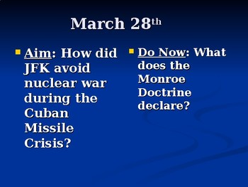 Cuban Missile Crisis PowerPoint by Kevin O'Brien | TpT