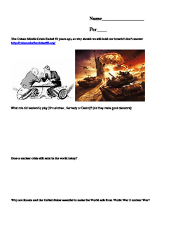 Cuban Missile Crisis Powerpoint and Webquest