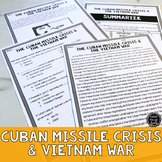 Cuban Missile Crisis and Vietnam War Reading Activity (SS5