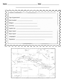 Cuban Postcard Template
