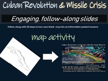 Cuban Revolution & Missile Crisis Map Activity: fun, easy,