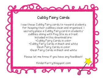 Cubby & Desk Fairy