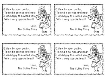 Cubby Fairy Certificates
