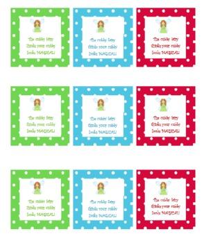 Cubby Fairy Notes Polka Dots