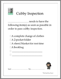 Cubby Inspection